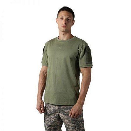 Camiseta Tática Masculina Ranger Bélica - Verde Oliva