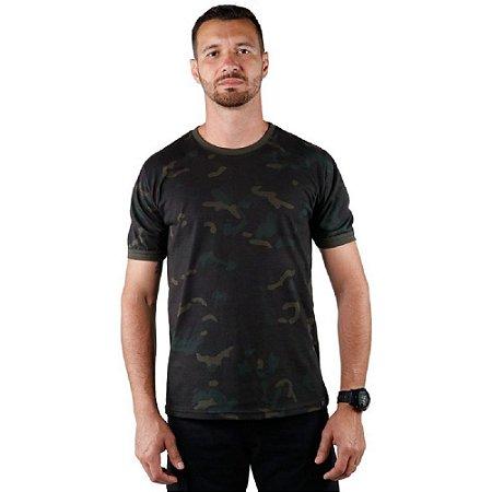 Kit Com 5 Camisetas Masculina Soldier Camuflada Bélica