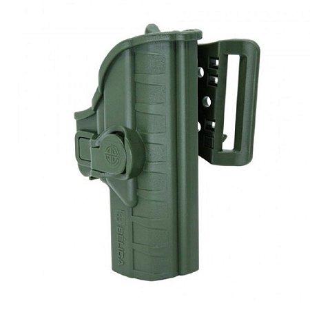 Coldre Striker I Em Polímero Passador Bélica Destro - Verde