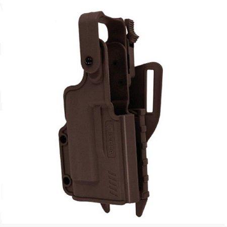 Coldre Black Light Com Adaptador Speed Bélica Canhoto - Cintura - Marrom