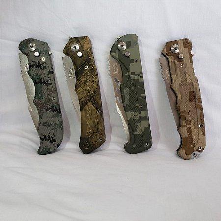 Kit Com 4 Canivetes Taue Camuflados