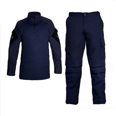 Farda Tática Bélica - Calça e Combat Shirt Azul