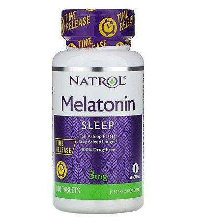 Melatonina Natrol Liberação Prolongada 3mg 100 Tablets