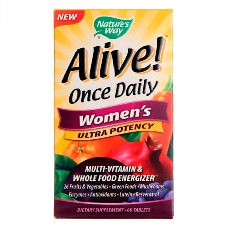 Multivitamínico Nature's Way Alive Once Daily Feminino 60 Tabletes