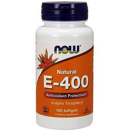 Vitamina E Now Foods D-Alpha 400 IU 100 Softgels
