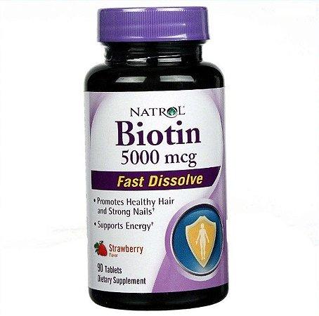 Biotina Natrol Dissolve Rápido 90 Tabletes