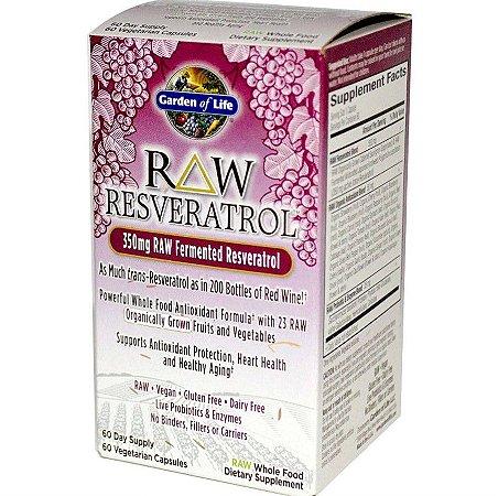 Resveratrol Garden of Life RAW 350 mg 60 caps