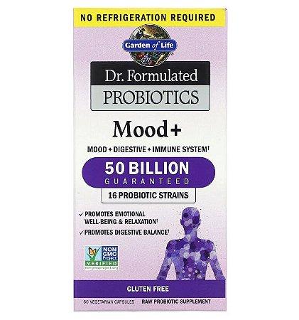 Probiótico Garden of Life Dr. Formulated Mood+ 60 Cápsulas