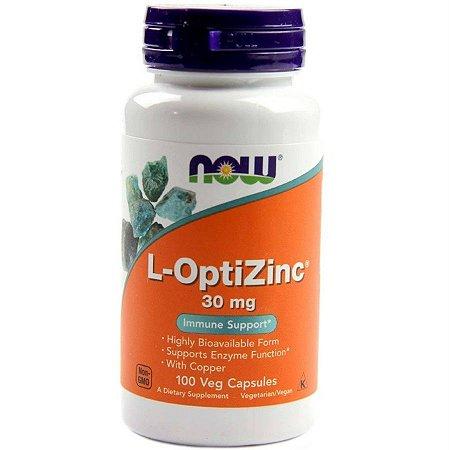 L-Optizinc Now Foods 30 mg 100 Caps