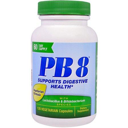 Probiótico Nutrition Now PB8 Fórmula Vegetariana 120 caps