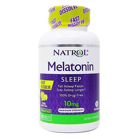 Melatonin Natrol Dissolve Rápido 10 mG 100 Tablets