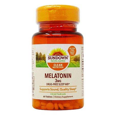 Melatonin Sundown Naturals 3mg 60 Tablets