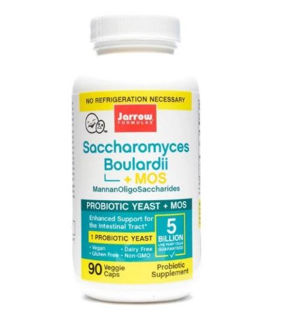 Probiótico Jarrow Saccharomyces Boulardii + MOS 90 caps