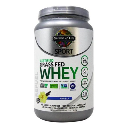 Whey Protein Garden of Life Sport Baunilha 640 Gramas