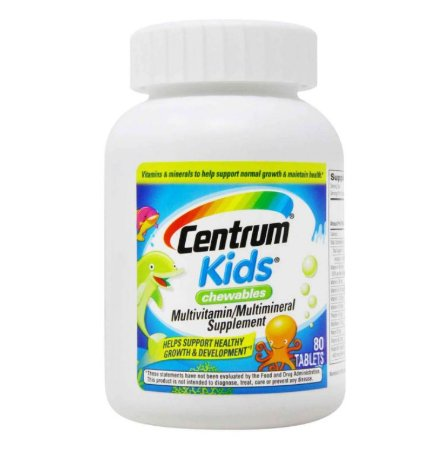Multivitamínico Centrum Kids Mastigável 80 Tablets