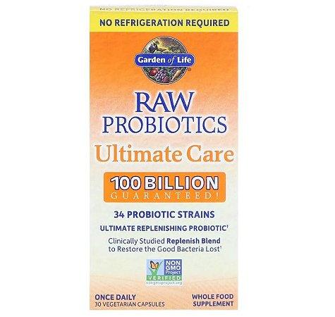 Probiótico Garden of Life RAW Ultimate Care 30 Caps