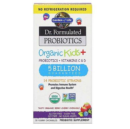 Probiótico Garden of Life Dr. Formulated Organic Kids 30 Mastigáveis