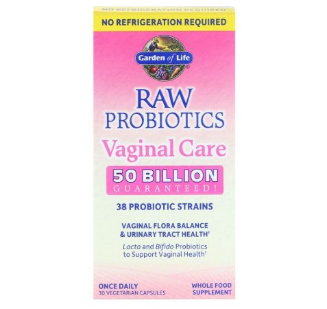 Probiótico Garden of Life RAW Vaginal Care 30 caps