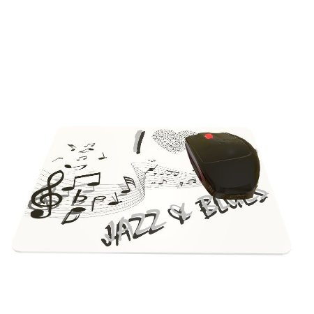 Mouse Pad I Love Jazz e Blues