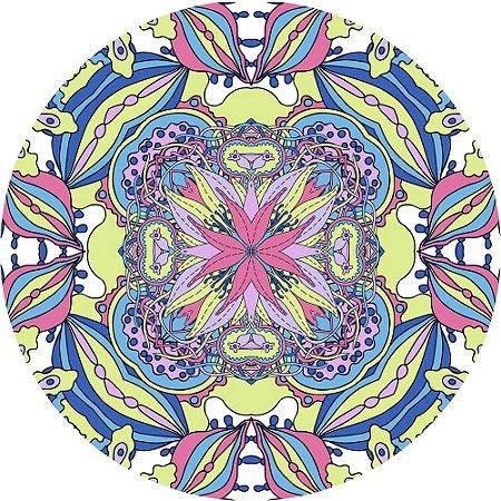 Mouse Pad Redondo Abstrato Colorido 1