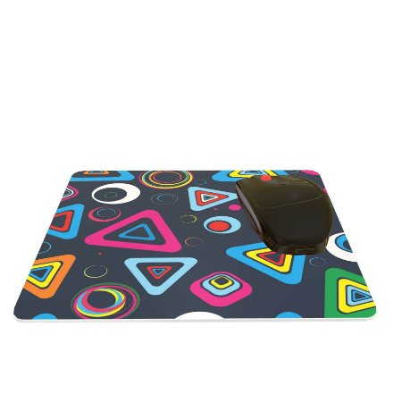 Mouse Pad Abstrato Triângulos Coloridos