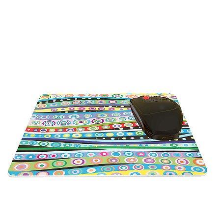 Mouse Pad Abstrato Ondas Coloridas