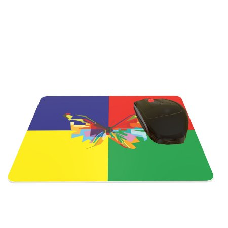 Mouse Pad Colorido Borboleta