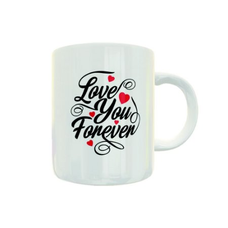 Caneca de Porcelana Love You Forever