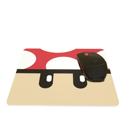 Mouse Pad Retagular Cogumelo Mario 24x20cm