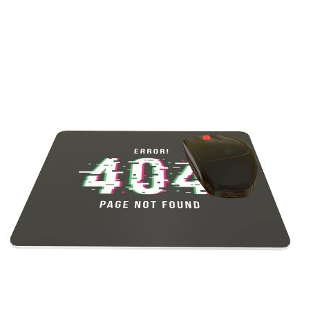 Mouse Pad Preto Error 404 Page Not Found 24x20cm