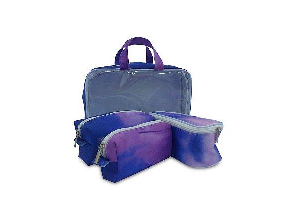 Kit Necessaire Tie Dye com 3 peças