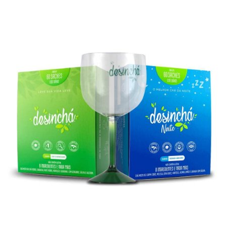 Kit Desinchá Dia e Noite + Brinde Taça Desinchá