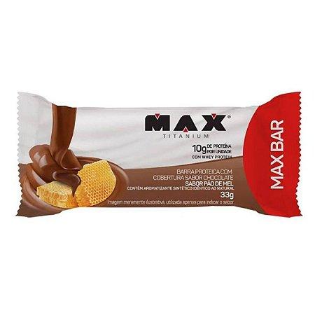 Barrinha de Proteína Max Bar - Max Titanium (Sabor Pão de Mel)