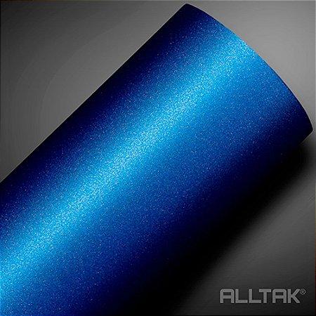VINIL ALLTAK JATEADO NAVY BLUE METALICO 1,38MT X 1,00MT