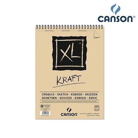 SKETCH KRAFT CANSON A4 90G 60FLS XL