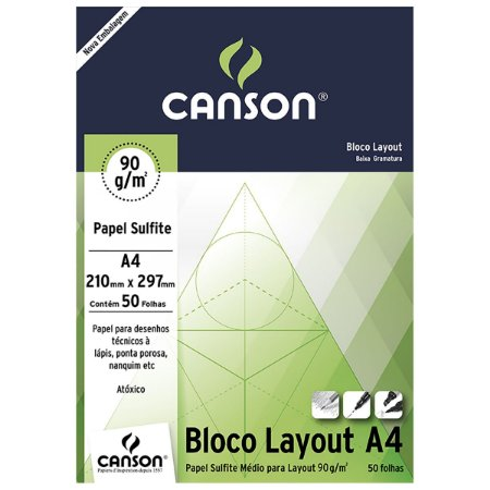BLOCO CANSON LAY OUT 90GR 50FL