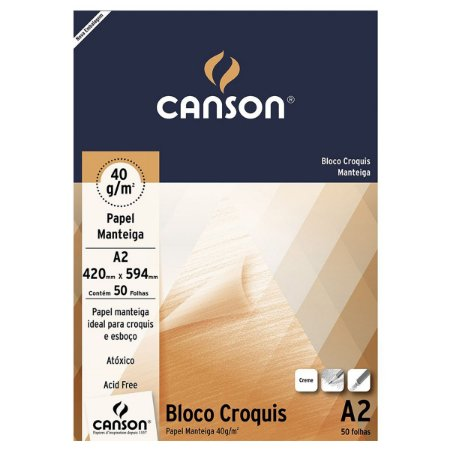 BLOCO CANSON CROQUIS 40G
