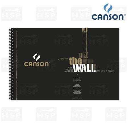 BLOCO CANSON THE WALL 220 GR A4+ 30 FOLHAS