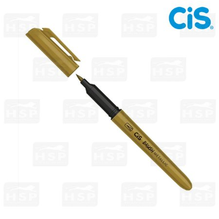 MARCADOR CIS BRUSH METALLIC OURO