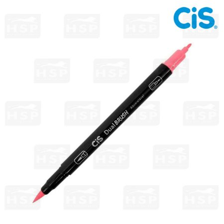 MARCADOR CIS DUAL BRUSH 2 PONTAS AQUARELÁVEL ROSA