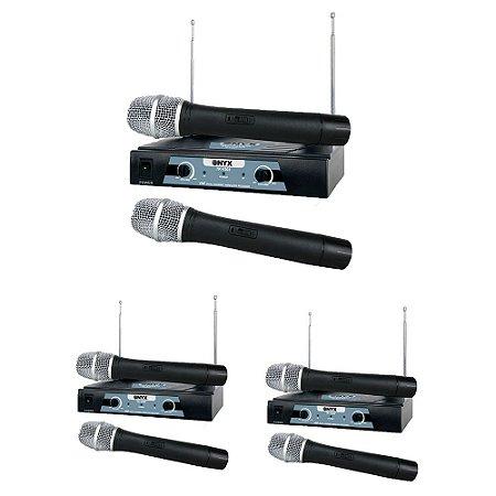 Kit 3 Microfones sem Fio TK-V202 VHF Onyx