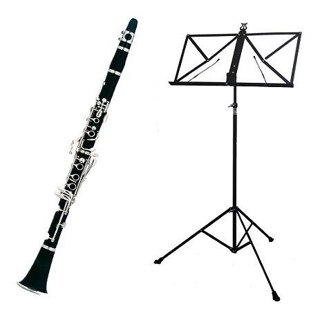 Kit Clarinete CL200 New York + Estante de Partitura S2