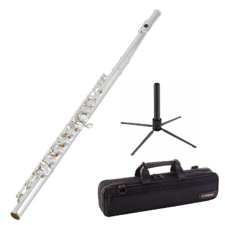 Kit Flauta Transversal C YFL-222 Prata Yamaha + Suporte Konig & Meyer