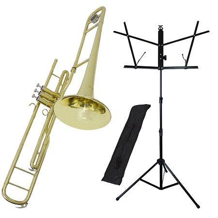 Kit Trombone de Pisto Tenor TB200PD New York + Estante de Partitura S1