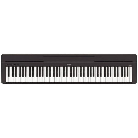 Piano Digital P45B Preto 88 Teclas com Fonte Bivolt Yamaha