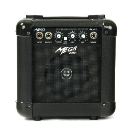 Amplificador Para Guitarra PL-10 BK Mega