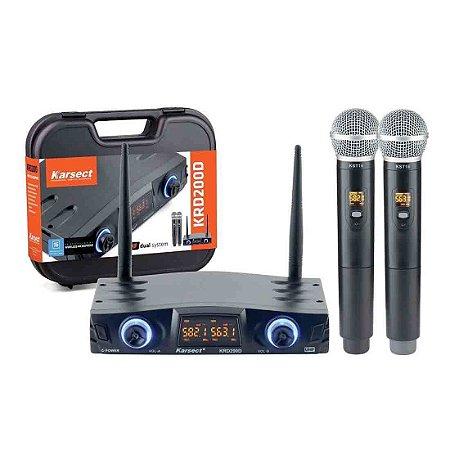 Karsect KRD200DM | Microfone sem fio Duplo de Mão