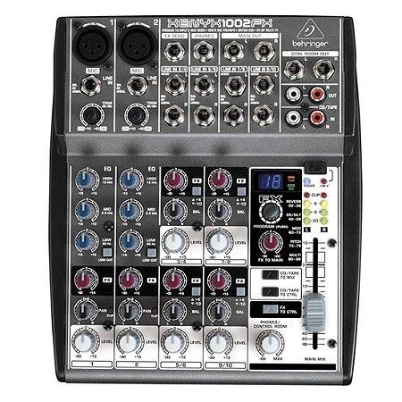 Behringer XENYX 1002FX | Mixer 10 Canais com Efeitos