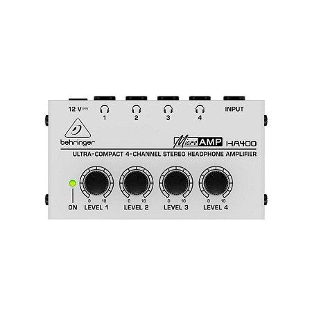Behringer HA400 | Amplificador de Fones 4 canais