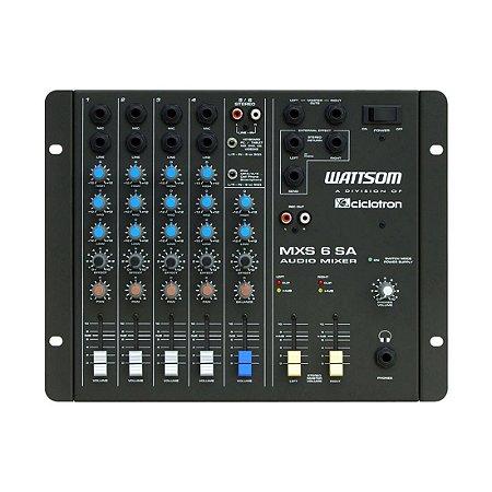 Ciclotron MXS 6 SA | Mesa de Som 6 Canais Estéreo